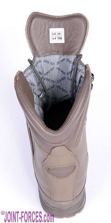98ff047ff Rear view of this high cut Gore-Tex membrane insulated leather boot [© Bob  Morrison]