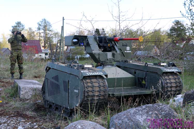 THeMIS With FN Herstal deFNder RWS In Estonia - Joint Forces