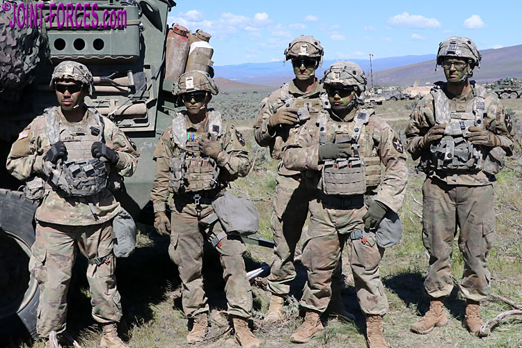 A 2ID recce soldier wearing OCP uniform