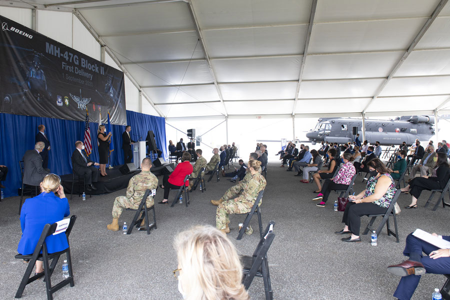 01 September, Boeing celebrated the delivery of the first MH-47G Block II Chinook with a ceremony at the Chinook factory in Philadelphia [© Boeing]