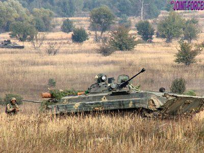 Ukrainian troops in training
